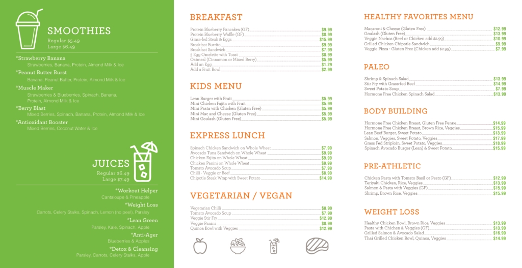 eat clean menus